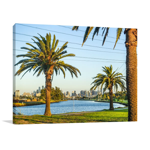 Footscray Park Art Print Palm Trees