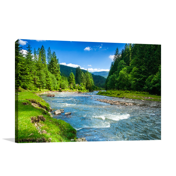 Forest And River Art Prints