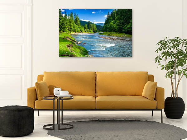 Forest And River Prints Canvas