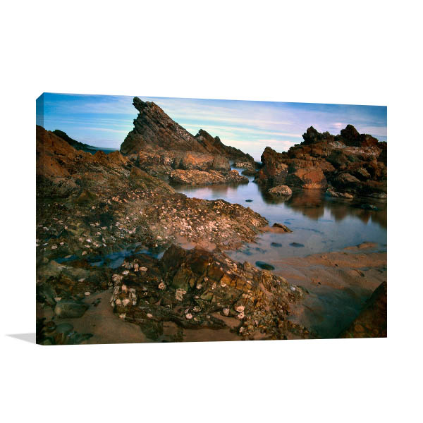 Forster Wall Art Print NSW Rocks Picture Canvas
