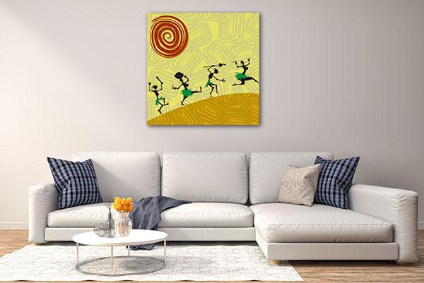 Four African Dancer Artwork