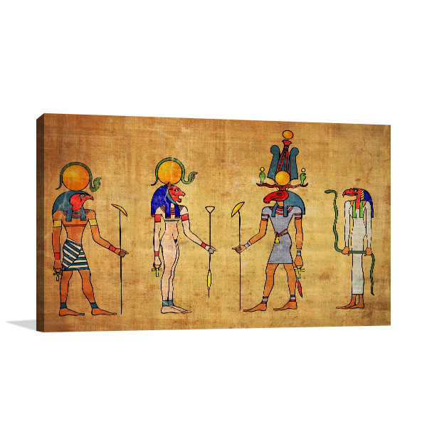 Four Egyptian Gods Wall Art