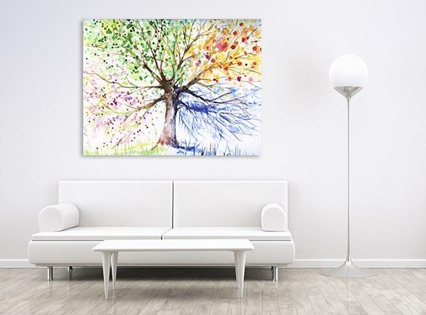 Four Seasons Canvas Art Print on the Wall