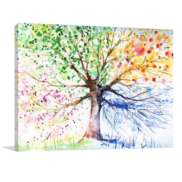 Four Seasons Canvas Artwork