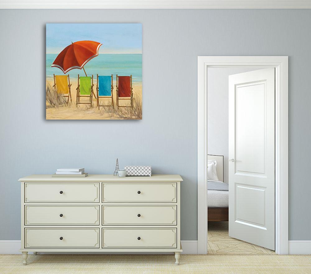Seascape Square Art Print on Canvas