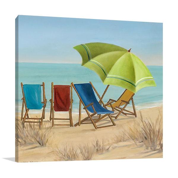Four Summer II Print Canvas