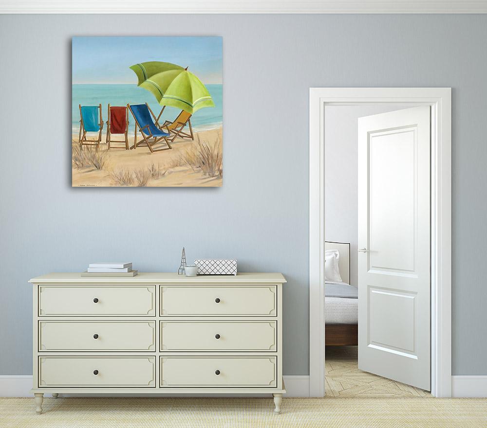 Canvas Print Art Blue Beach