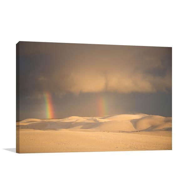 Fowlers Bay Art Print Rainbow Sand Dunes Wall Artwork