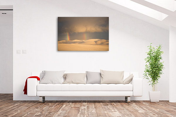 Fowlers Bay Art Print Rainbow Sand Dunes Photo Canvas
