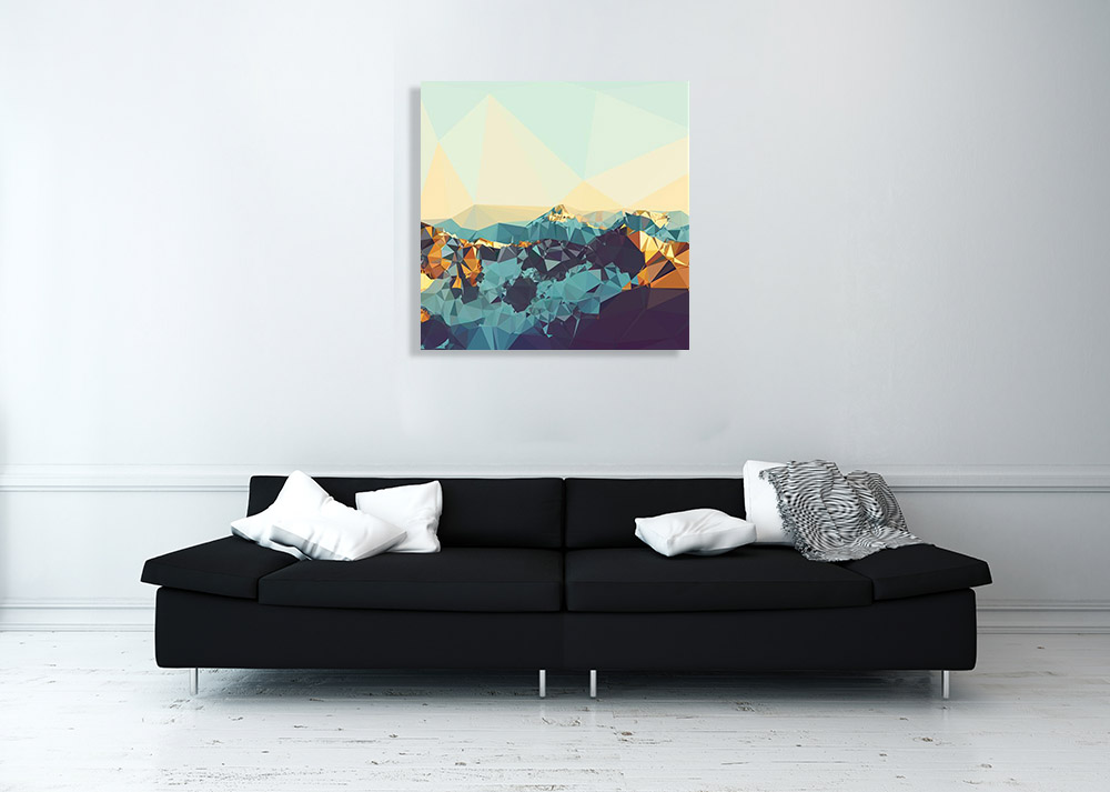 Abstract Canvas Landscape Shapes