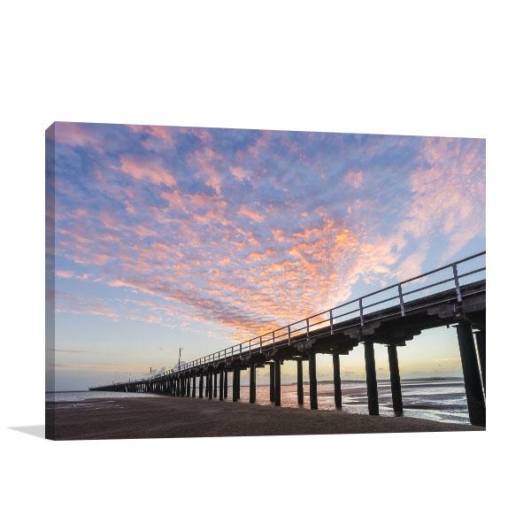 Fraser Coast Canvas Art Print Urangan Pier