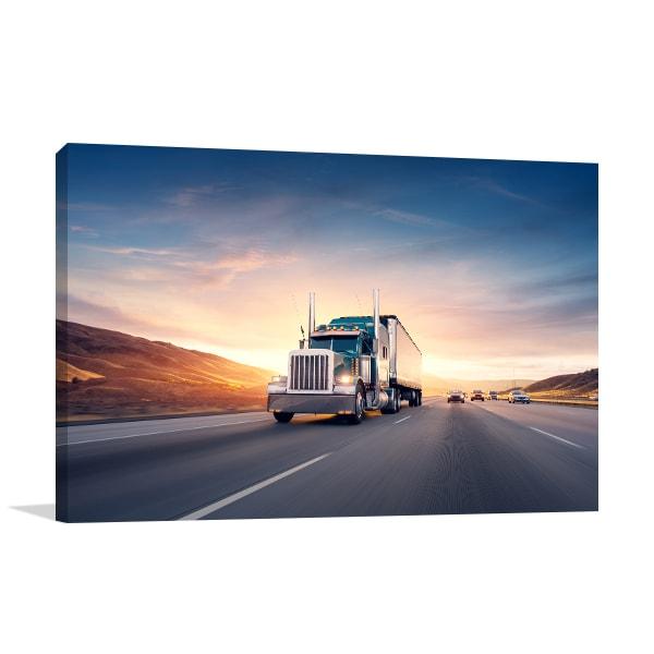 Freeway Truck Wall Art