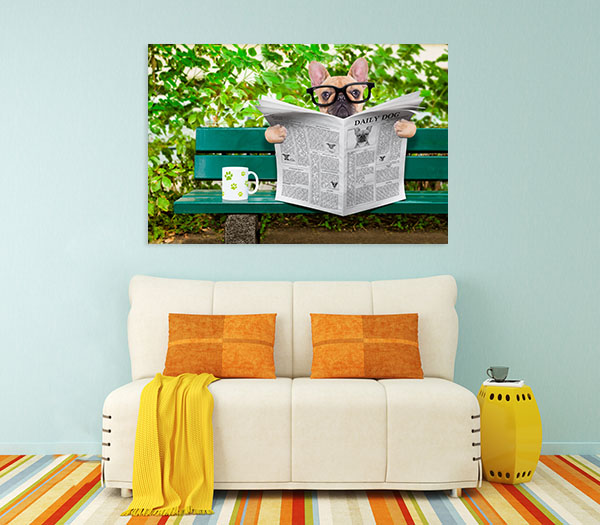 French Bulldog Prints Canvas