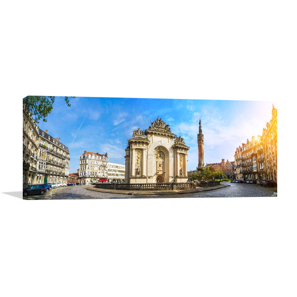 French City Lille with Belfry Art Prints