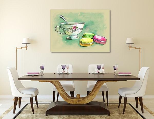 French Dessert Prints Canvas