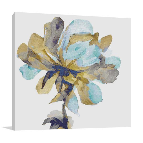 Fresh Bloom Aqua I Print on Canvas