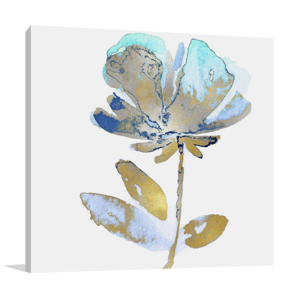 Fresh Bloom Aqua II  Print Canvas