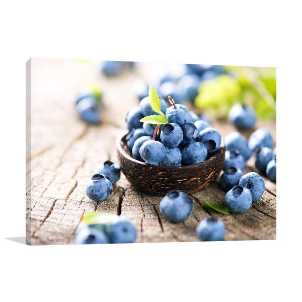 Fresh Blueberries Canvas Art
