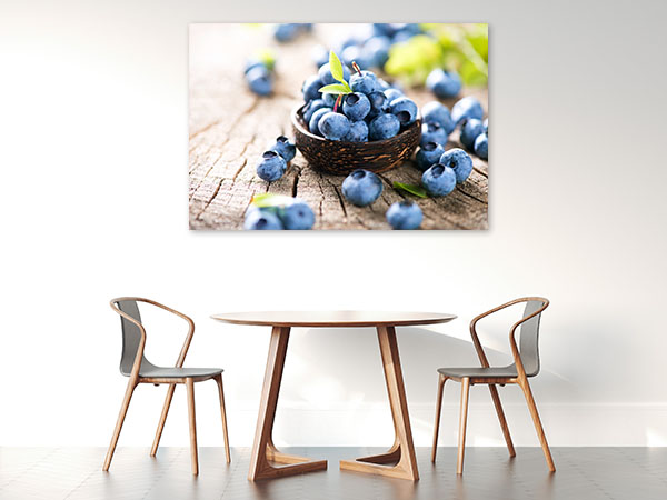 Fresh Blueberries Canvas Prints