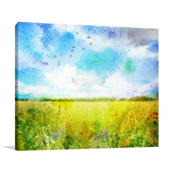 Fresh Meadow Canvas Art Prints