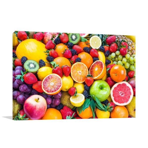 Fresh Mixed Fruits Prints Canvas