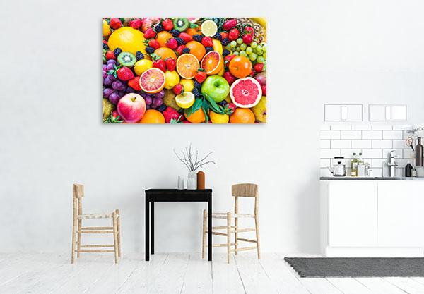 Fresh Mixed Fruits Canvas Art