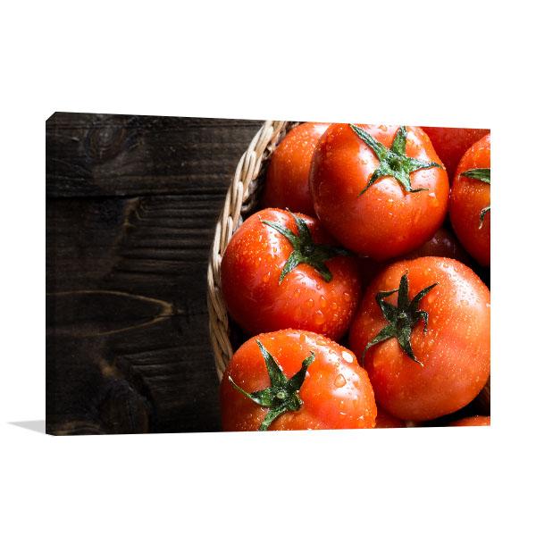 Fresh Organic Tomatoes Canvas Art Prints
