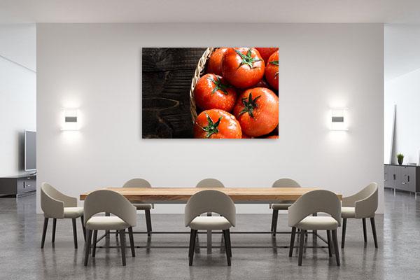 Fresh Organic Tomatoes Canvas Prints