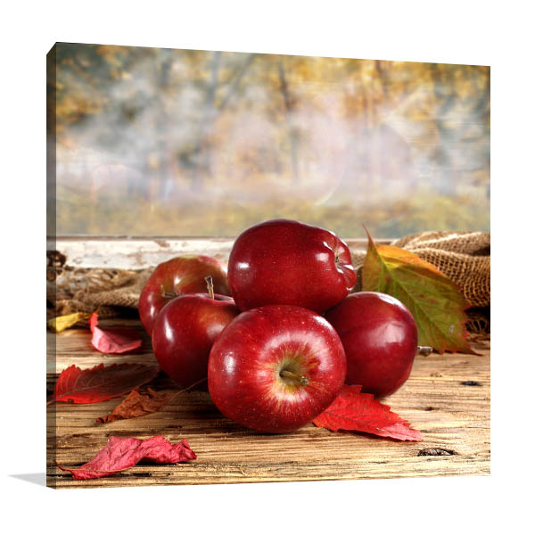 Fresh Red Apple Print Artwork
