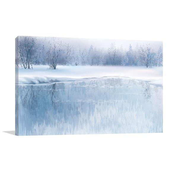 Frozen Lake Print Art Canvas