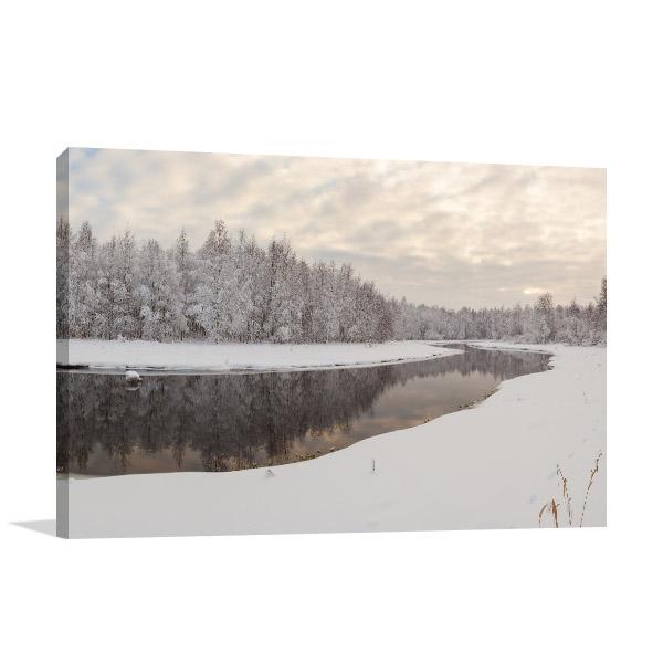Frozen River Prints Canvas