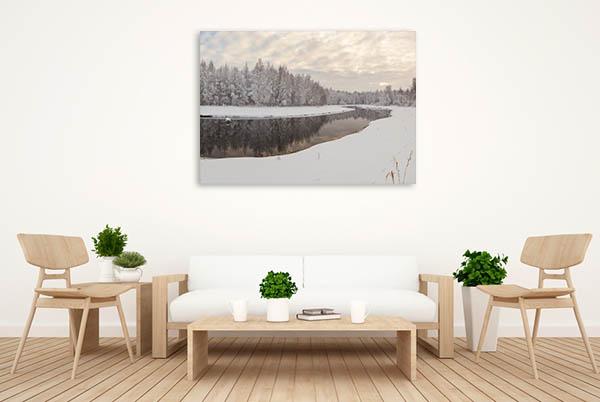 Frozen River Canvas Prints