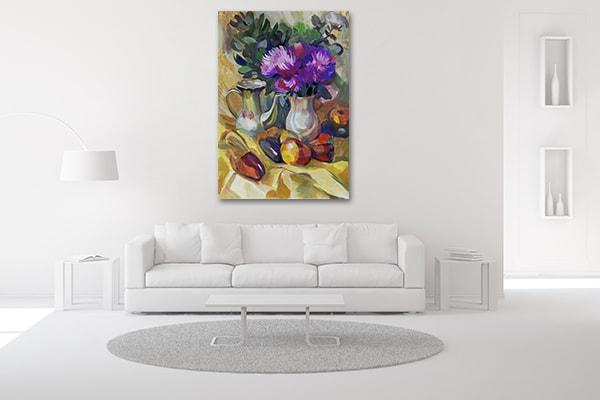 Fruit & Flowers Print Art Canvas