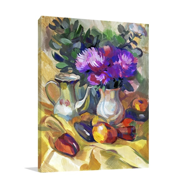 Fruit & Flowers Wall Canvas
