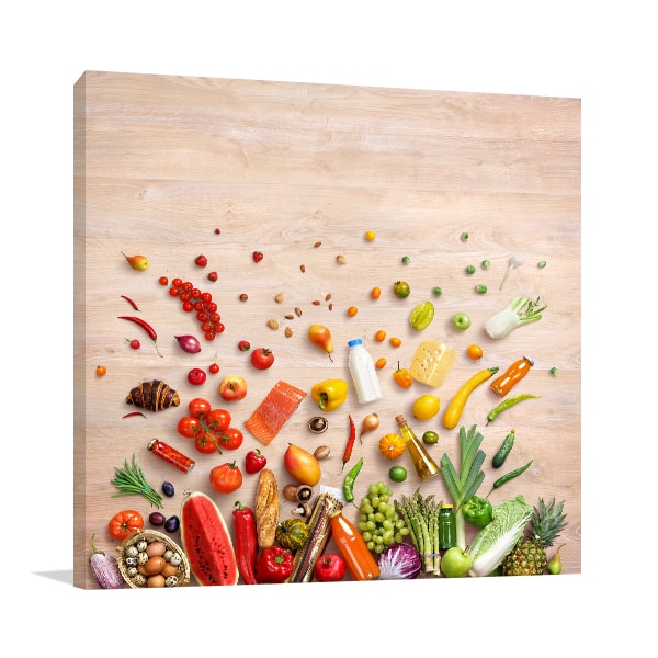 Fruits And Vegetables Wall Art