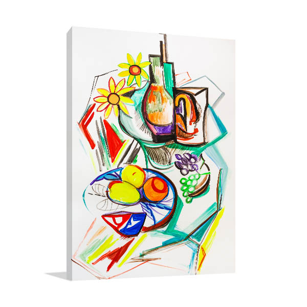 Fruits Cubism Canvas Art