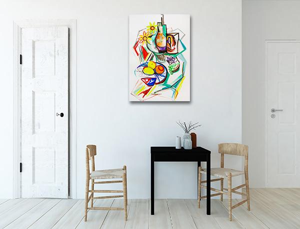 Fruits Cubism Artwork