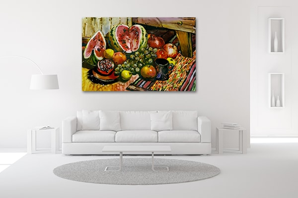 Fruits on Table Canvas Artwork