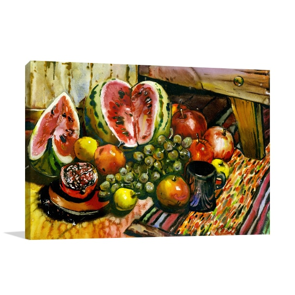 Fruits on Table Print Artwork