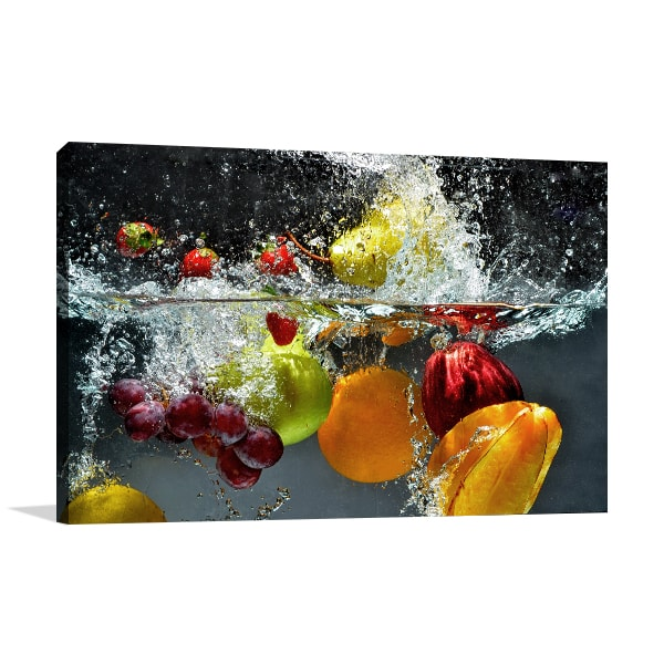 Fruits on Water Art Prints
