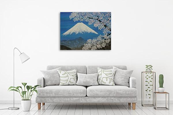 Fuji Sumie Style Canvas Prints