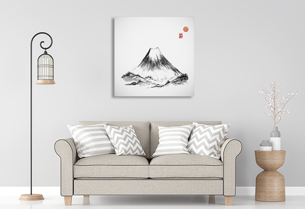 Fujiyama Hand Drawn Canvas Art Prints