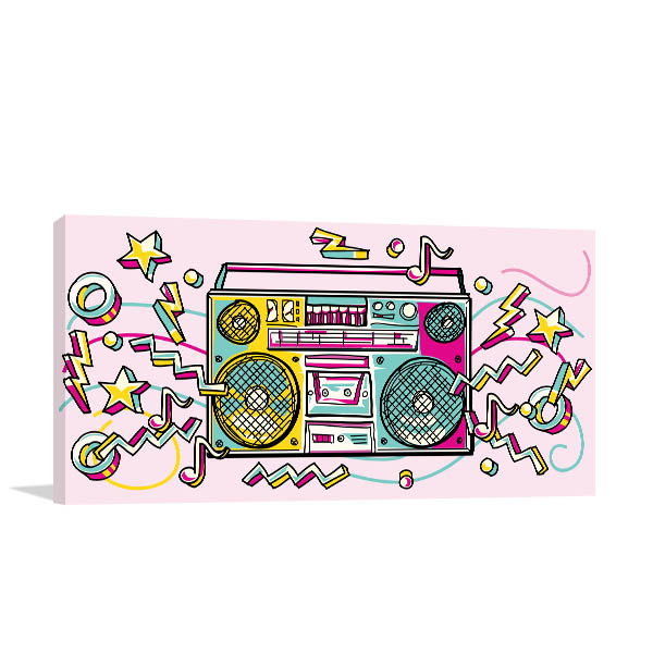 Funky Boombox Wall Art