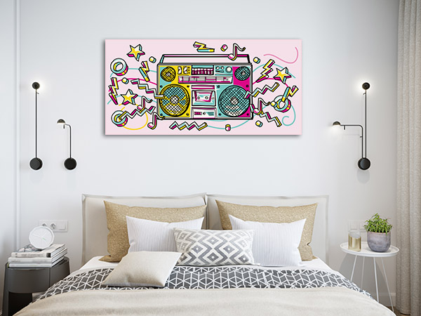 Funky Boombox Canvas Art