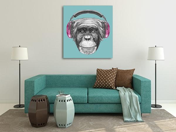 Funky Monkey Canvas Prints