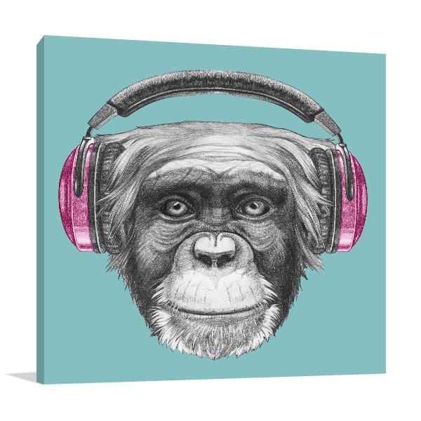 Funky Monkey Prints Canvas