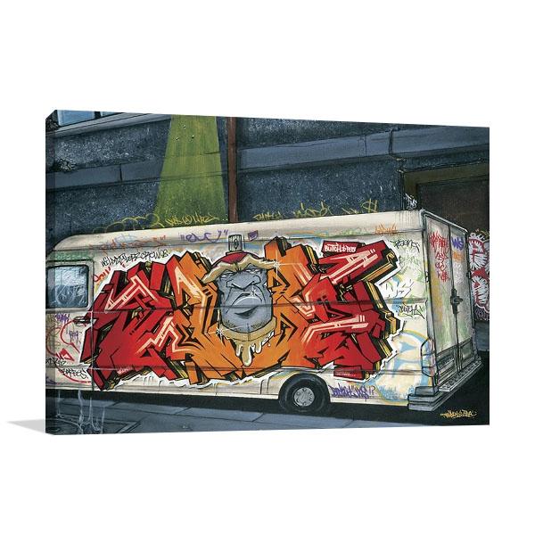 Funky Truck II Wall Print