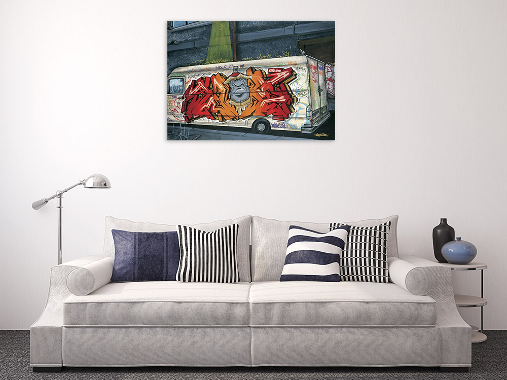 Modern Street Art Print on Canvas