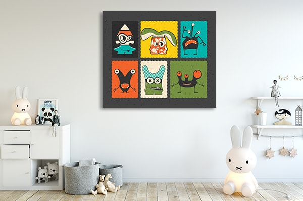 Funny Monster Print Artwork