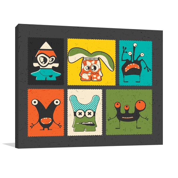 Funny Monster Canvas Prints